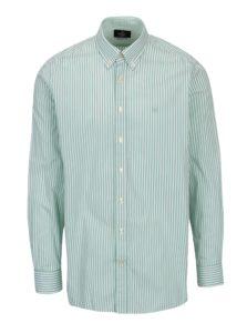 Bielo-zelená pruhovaná classic fit košeľa Hackett London