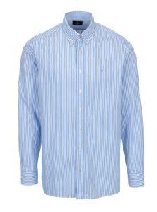Bielo-modrá pruhovaná classic fit košeľa Hackett London