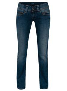 Tmavomodré dámske straight rifle s nízkym pásom Pepe Jeans Venus