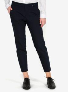 Tmavomodré dámske slim fit skrátené nohavice s.Oliver