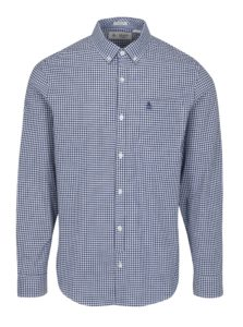 Bielo-modrá kockovaná slim fit košeľa Original Penguin Core Gingham