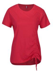 Tmavoružové tričko so sťahovaním ONLY Merle