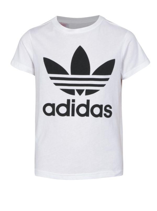 Biele chlapčenské tričko s potlačou adidas Originals