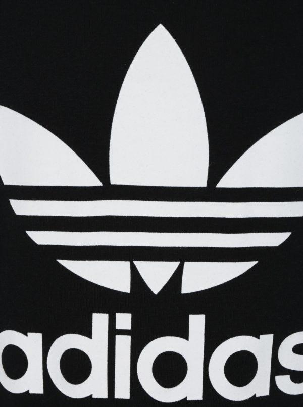 Čierna chlapčenská mikina s potlačou adidas Originals