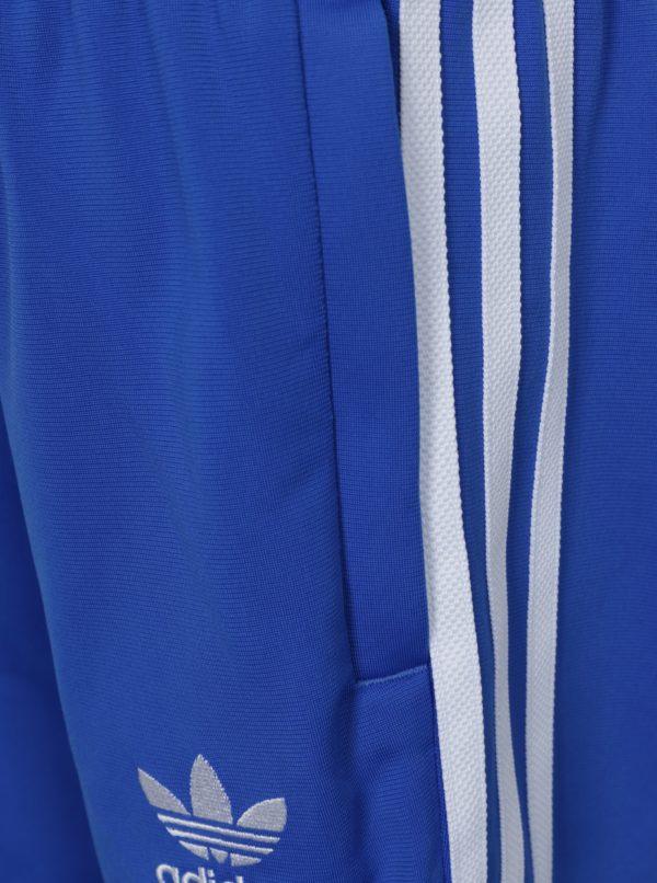 Modré chlapčenské tepláky adidas Originals