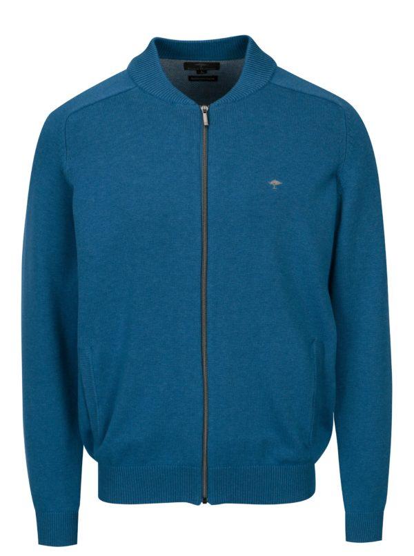 Modrý kardigán na zips Fynch-Hatton