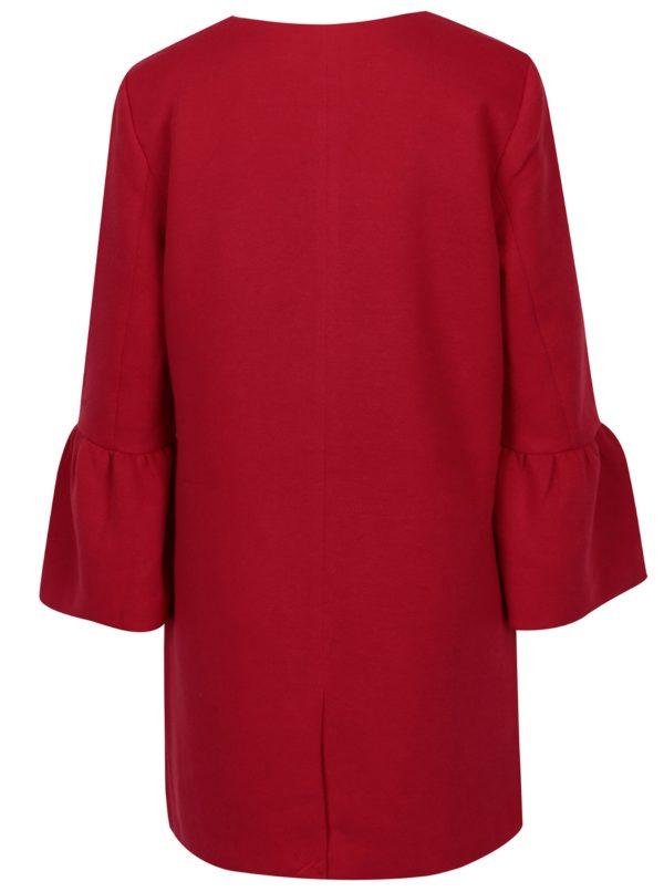 Červený kabát s volánmi ONLY Sia