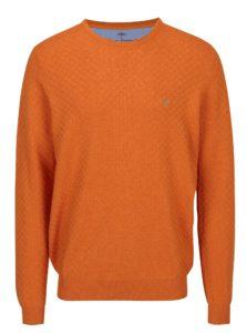 Oranžový vzorovaný sveter Fynch-Hatton