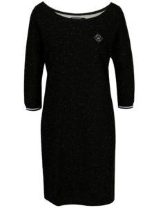 Čierne mikinové melírované šaty Horsefeathers Chicca