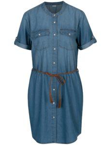 Modré rifľové šaty Jacqueline de Yong Shine