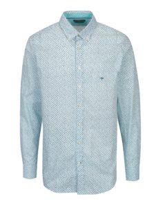 Modro-krémová vzorovaná modern fit košeľa Fynch-Hatton