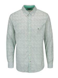 Zeleno-biela vzorovaná modern fit košeľa Fynch-Hatton