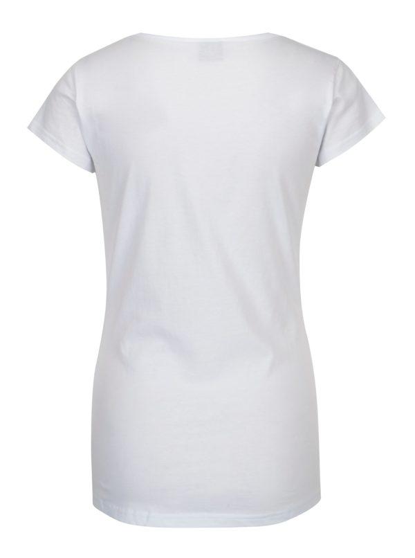 Biele dámske tričko s potlačou Horsefeathers Sally
