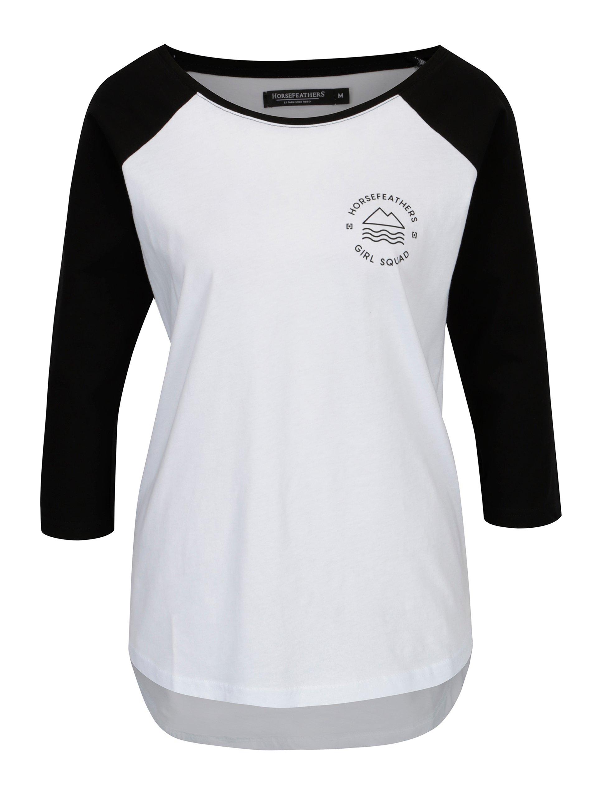 4aa5434344e2 Biele dámske tričko s dlhým rukávom Horsefeathers Linn