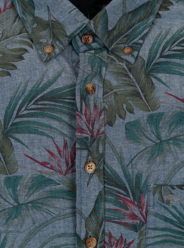 Modrá košeľa s potlačou Fynch-Hatton