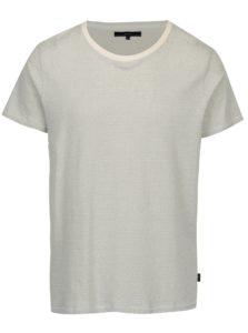Krémové vzorované tričko s krátkym rukávom SUIT