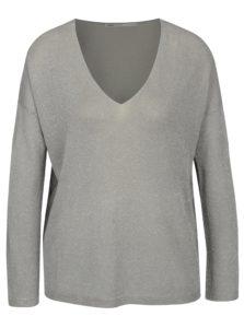 Sivý tenký trblietavý sveter ONLY Geena