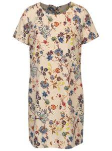 Béžové kvetované šaty ONLY Amara
