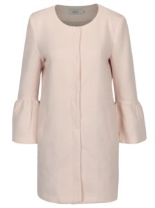Svetloružový kabát s volánmi ONLY Sia
