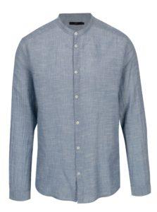 Modrá košeľa s drobným vzorom SUIT