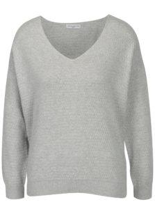 Svetlosivý vzorovaný sveter Jacqueline de Yong Barbera