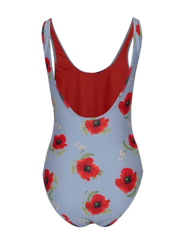 Modro-červené kvetované jednodielne plavky Y.A.S Bloom