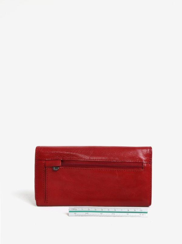 Červená dámska veľká kožená peňaženka KARA