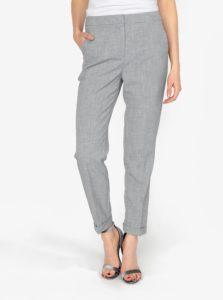 Sivé melírované skrátené nohavice VERO MODA Olivia