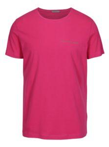 Ružové pánske tričko s potlačou Calvin Klein Jeans Typoko