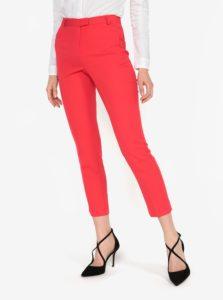 Červené nohavice s vysokým pásom Miss Selfridge