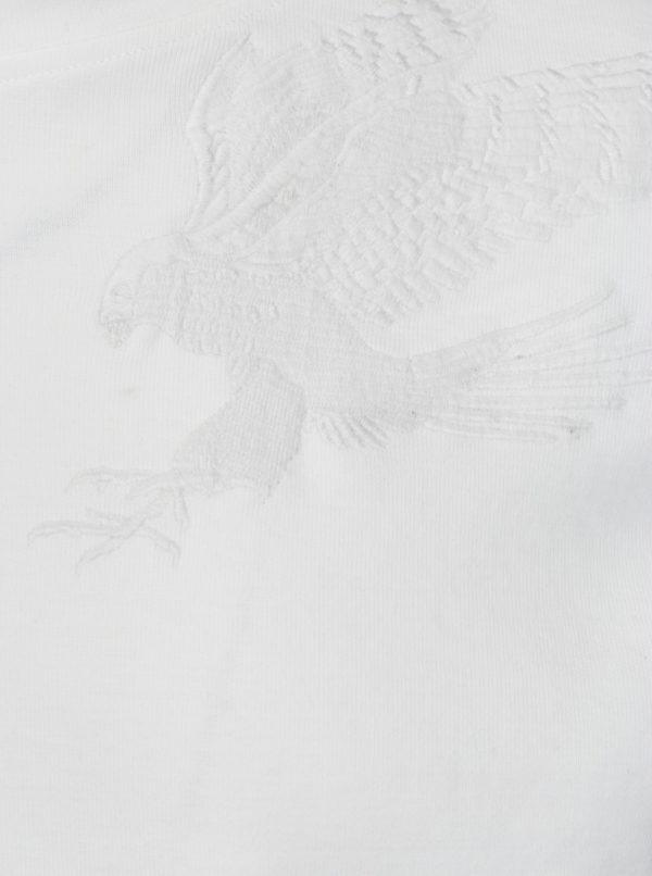 Biela mikina s nášivkami sokola Jack & Jones William