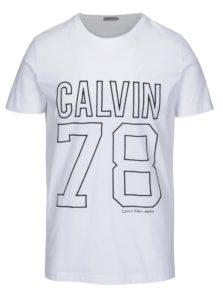 Biele pánske tričko s výšivkou Calvin Klein Jeans Timball