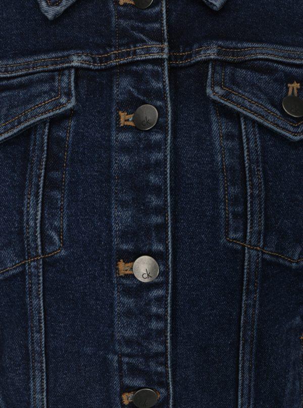 d8eaa3901 Modrá dámska rifľová bunda Calvin Klein Jeans Jet Trucker | Moda.sk