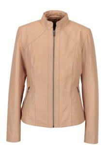Svetloružová dámska kožená bunda KARA Stephie