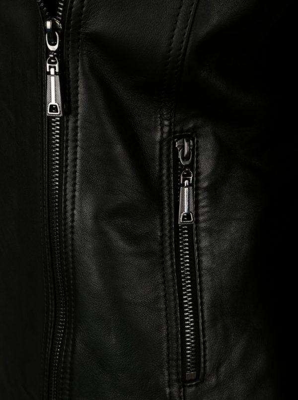 Čierna dámska kožená bunda KARA Rose