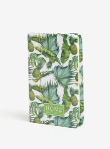 Zeleno-krémový zápisník so vzorom ananásov Kaemingk A6