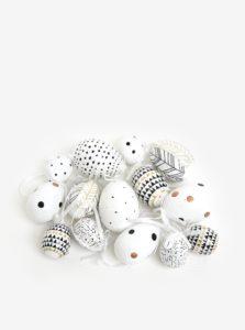 Súprava plastových závesných vajíčok v krémovej farbe Kaemingk