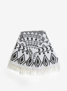 Čierno-krémová hammam osuška so strapcami Kaemingk