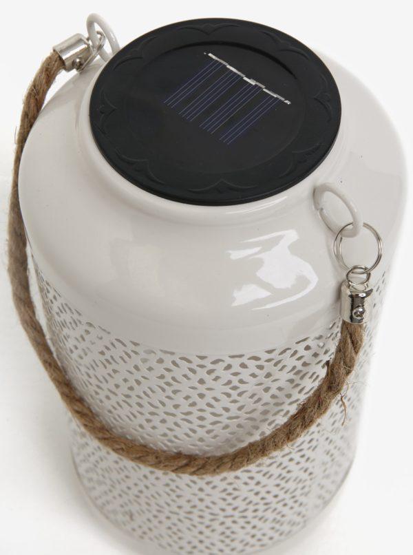 Biele kovové solárne svetlo do exteriéru Kaemingk