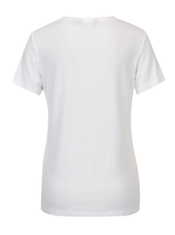 Biele tričko s vyšívaným nápisom Dorothy Perkins