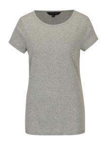 Sivé melírované basic tričko s krátkym rukávom Dorothy Perkins