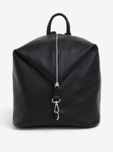 Čierny dámsky kožený batoh KARA