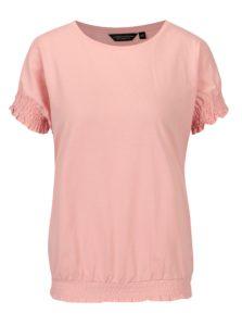 Svetloružové tričko s riasením Dorothy Perkins