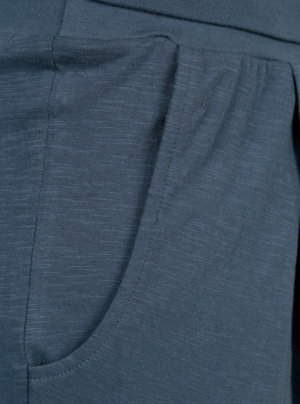 Modré tepláky s vysokým pásom Tranquillo Linea