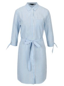 Modro-biele pruhované košeľové šaty Dorothy Perkins