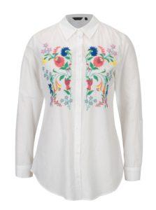 Biela košeľa s kvetovanými výšivkami Dorothy Perkins