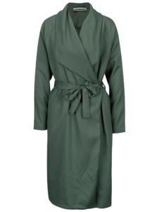 Zelený tenký kabát so zaväzovaním Noisy May Fia
