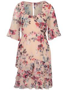 Ružové kvetované šaty Frech Connection
