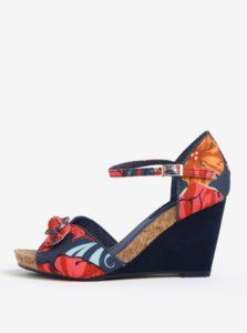 Tmavomodré sandále na platforme Ruby Shoo Molly