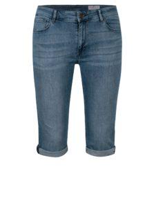 Modré dámske slim fit rifľové kraťasy s vysokým pásom Cross Jeans